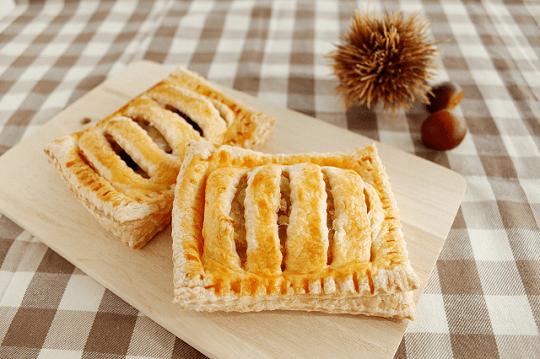 栗きんとんと黒豆のパイ