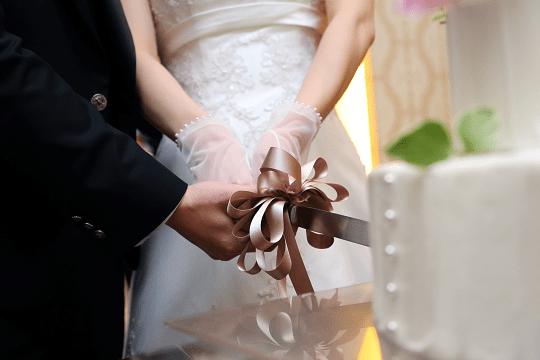 結婚式でのケーキカット